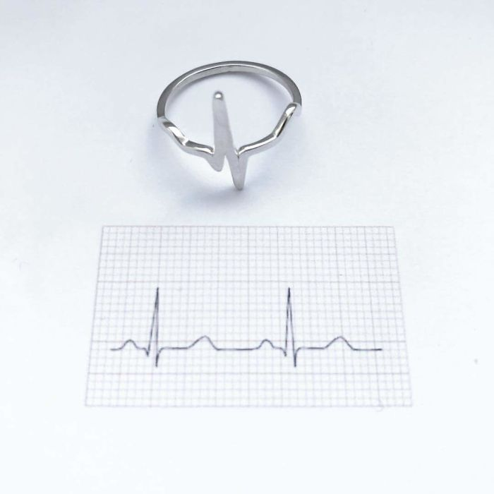 Science Inspired Jewelry Pieces heartbeat ring