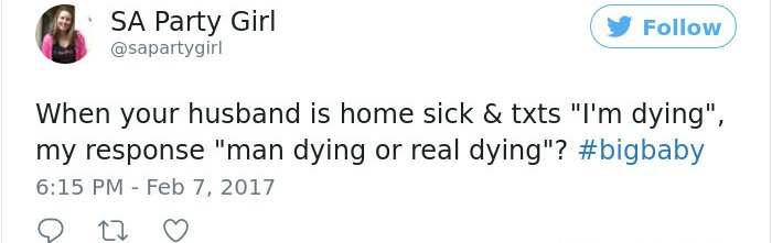 Sick Husbands man dying
