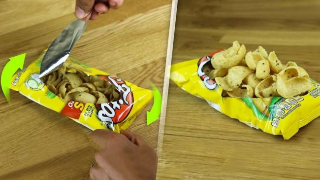 Simple Things That Many Of Us Are Doing Wrong bag of chips into a bowl