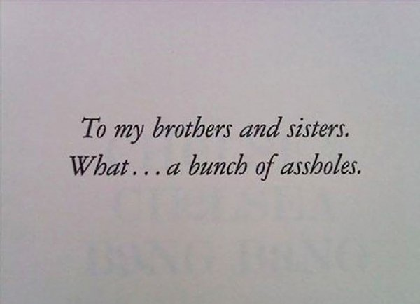 The Best Book Dedications chelsea chelsea bang bang