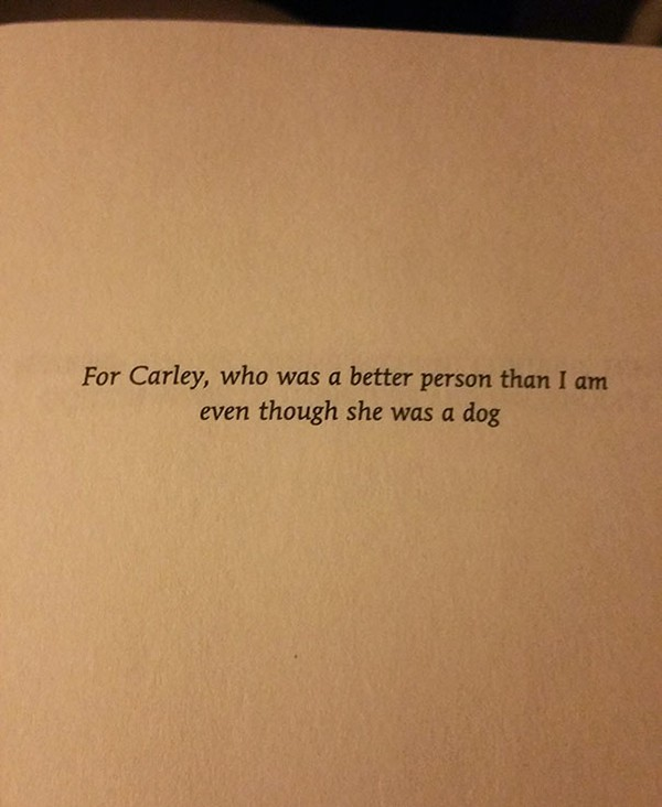 The Best Book Dedications for carley