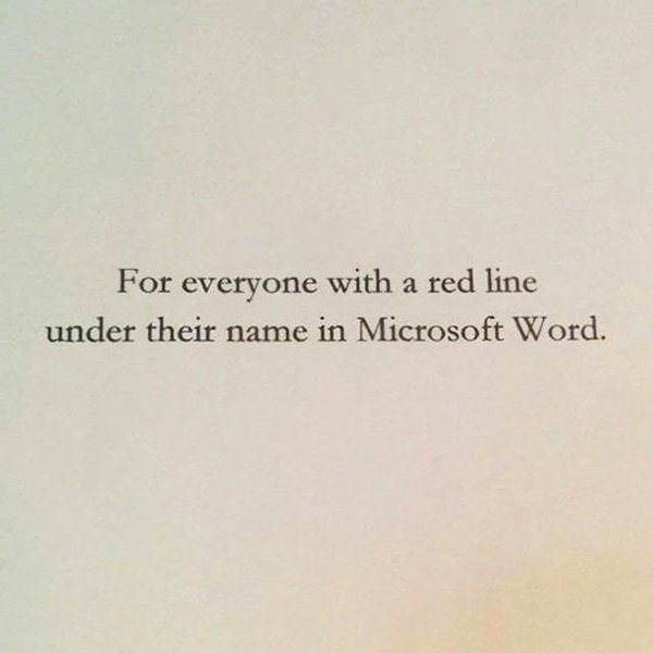 The Best Book Dedications for everyone with a red line under their name