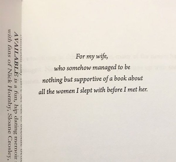 The Best Book Dedications for my wife