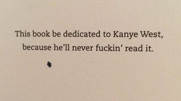 The Best Book Dedications kanye west