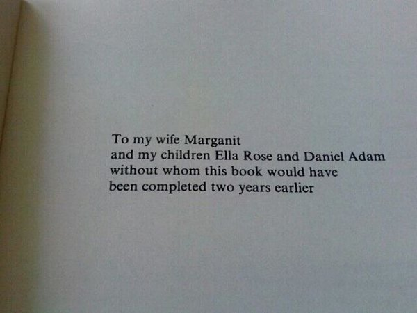 The Best Book Dedications to my wife marganit