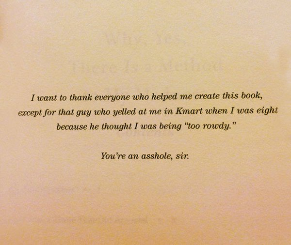 The Best Book Dedications too rowdy