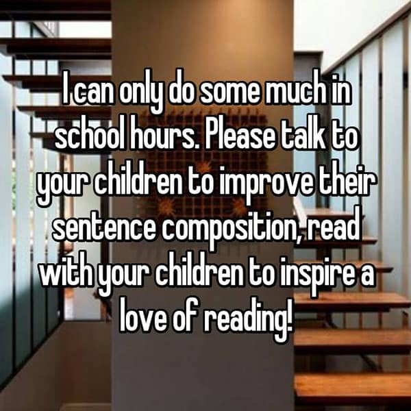 Things That Teachers Wish Parents Would Accept read with your children