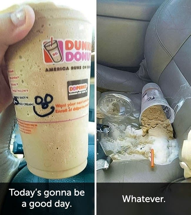 Times When People Had A Very Bad Day dunkin donuts fail