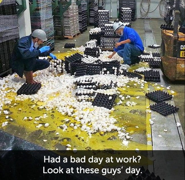 Times When People Had A Very Bad Day eggy mess