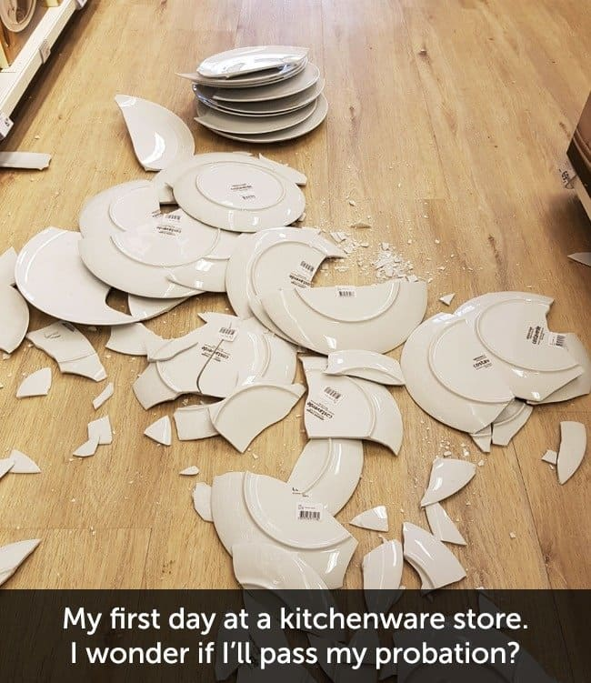Times When People Had A Very Bad Day plates smashed