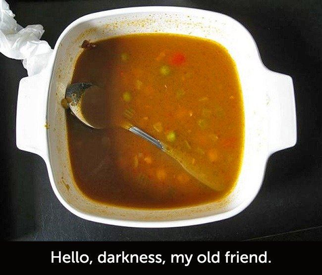 Times When People Had A Very Bad Day spoon in soup