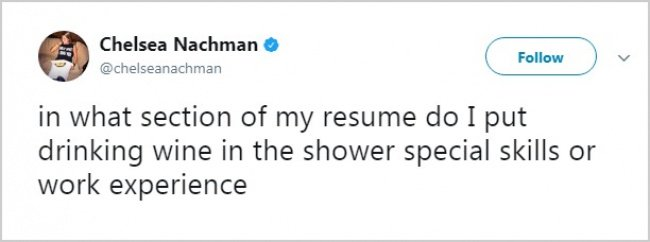 Tweets About Office Life drinking wine in shower