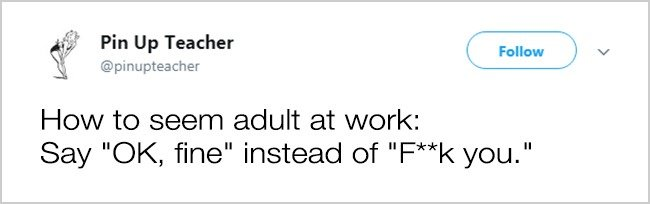 Tweets About Office Life say ok