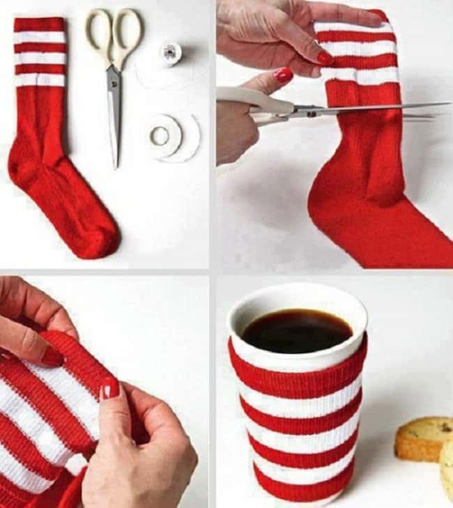 Unexpected Uses For Everyday Items mug sock sweater