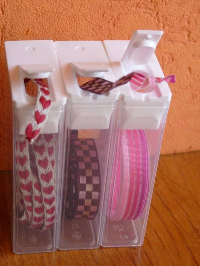 Unexpected Uses For Everyday Items tic tac containers ribbon storagr