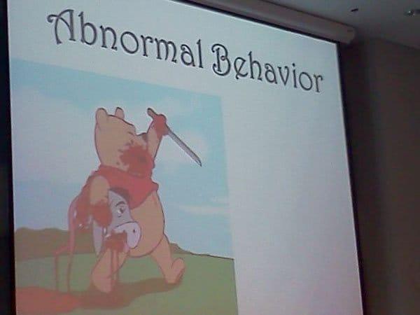 Unforgettable Presentations abnormal behavior