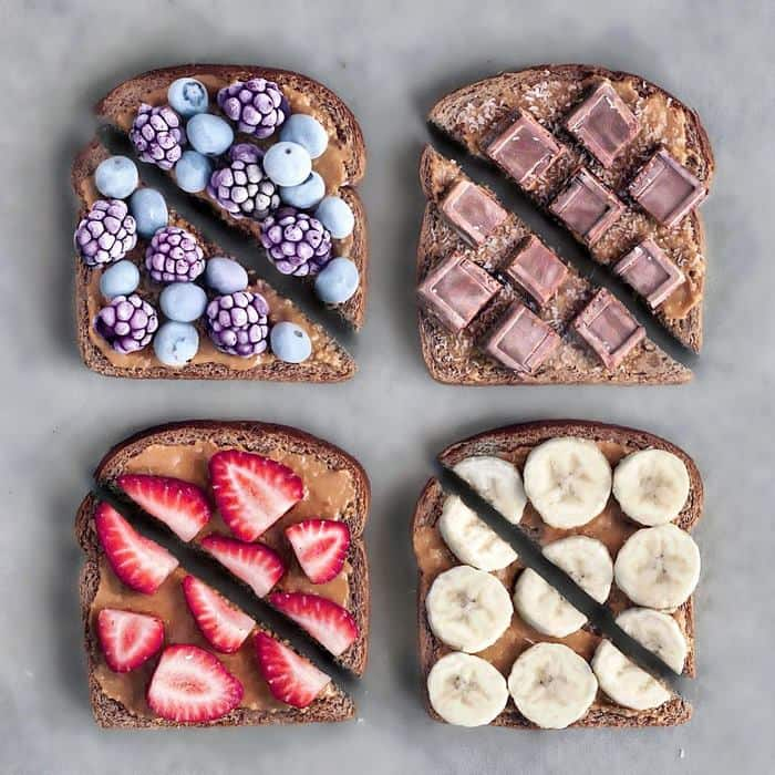 Vegan Breakfasts And Desserts colorful toast