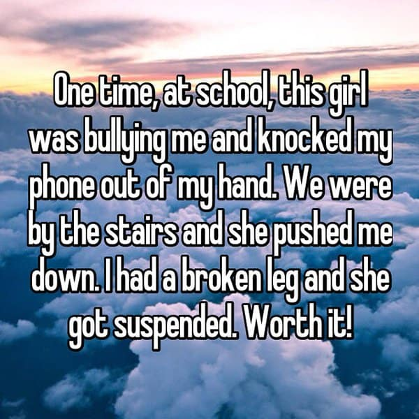 Victims Of Real Life Mean Girls broken leg