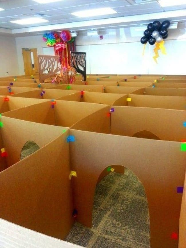 Ways To Keep Your Kids Entertained cardboard box maze