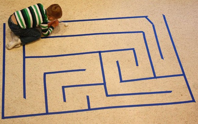 Ways To Keep Your Kids Entertained maze with ball