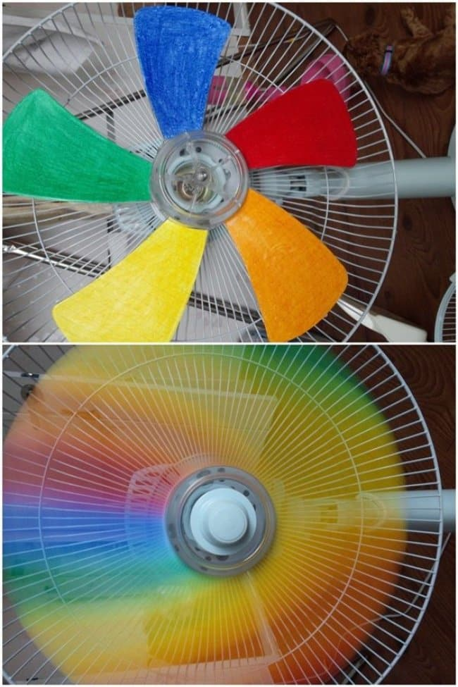 Ways To Keep Your Kids Entertained rainbow fan