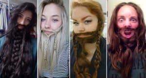 Women Who Used Their Hair To Make Wonderful Beards