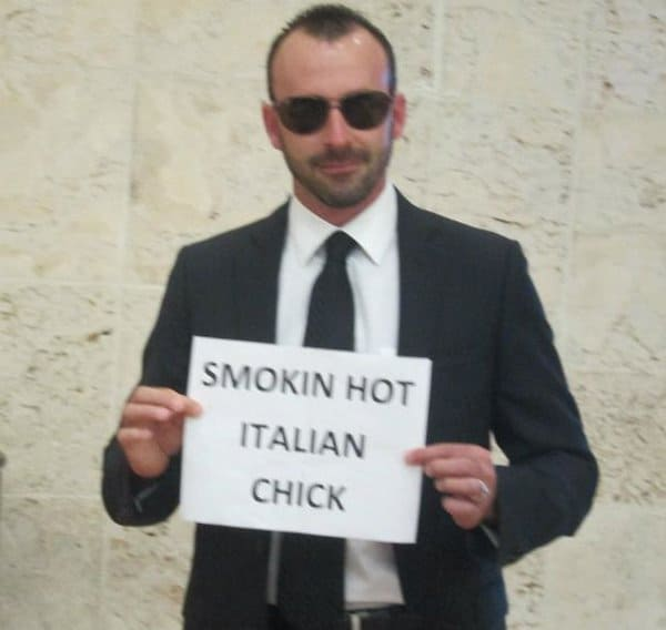 Airport Pick Up Signs smokin italian chick
