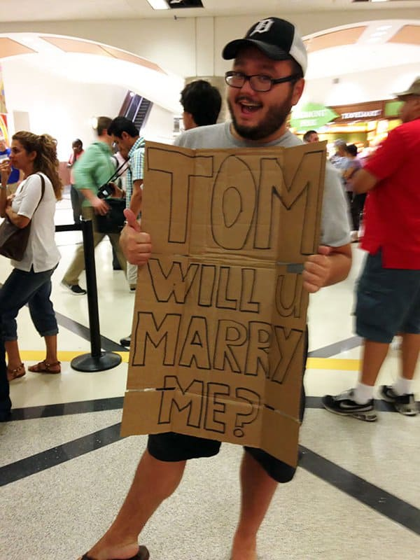 Airport Pick Up Signs will you marry me