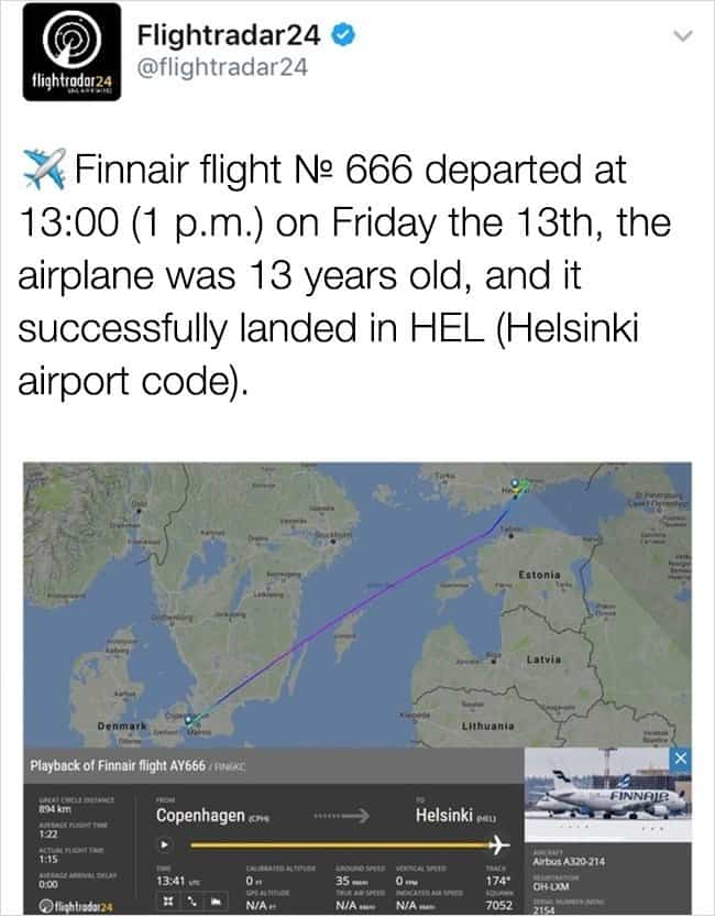 Amazing Coincidences flight no 666
