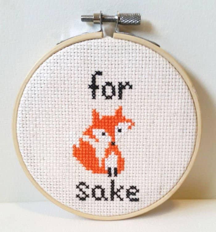 Amusing Cross Stitches for fox sake