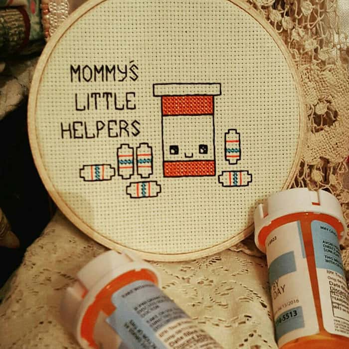 Amusing Cross Stitches mommys little helpers