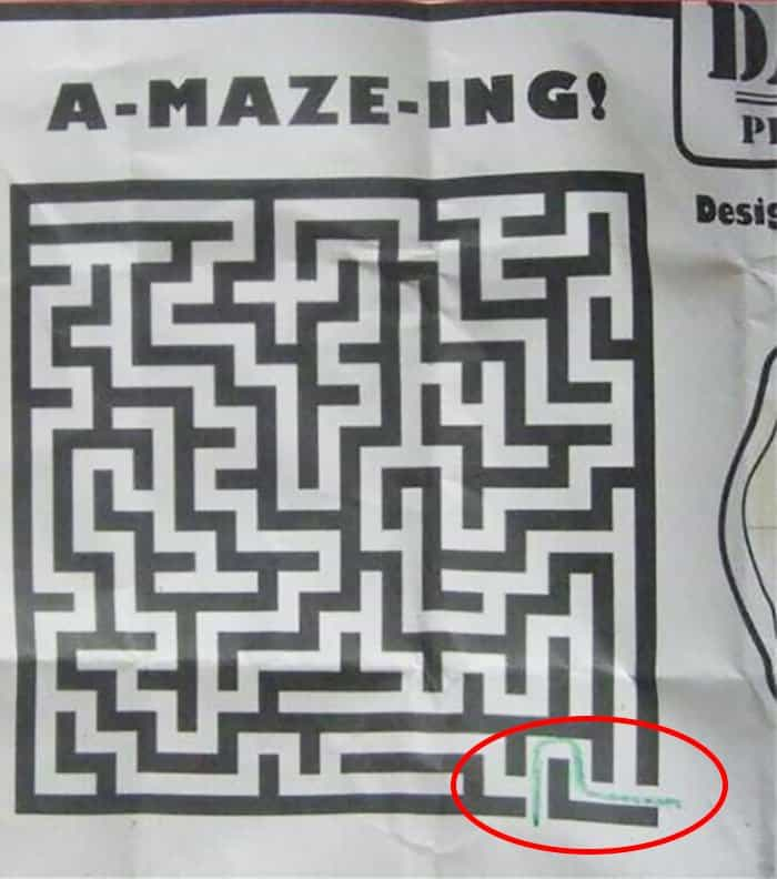 Amusing Epic Design Fails maze