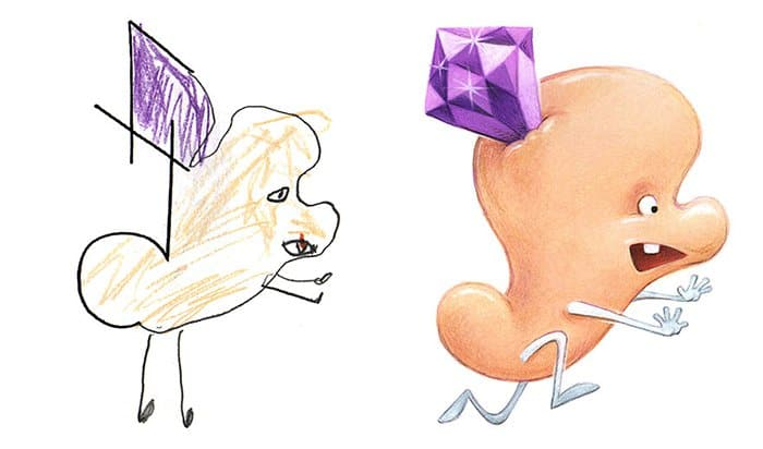 Artist Transforms Kid's Drawings Into Awesome Monsters diamond head