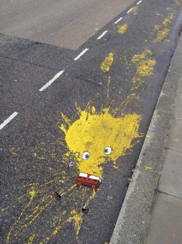 Awesome Acts Of Vandalism rip spongebob