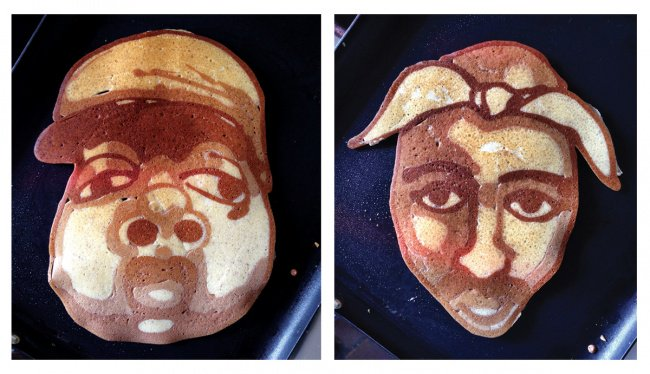 Awesome Husbands bigge and tupac pancakes