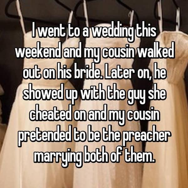 Awkward Wedding Incidents cheated