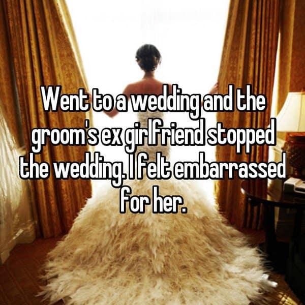 Awkward Wedding Incidents ex girlfriend