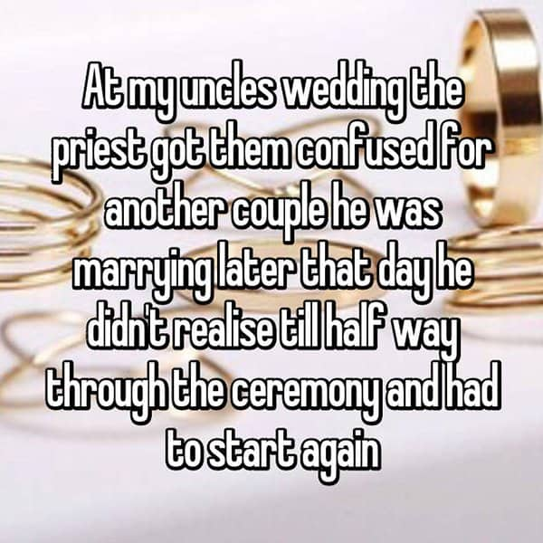Awkward Wedding Incidents priest got confused
