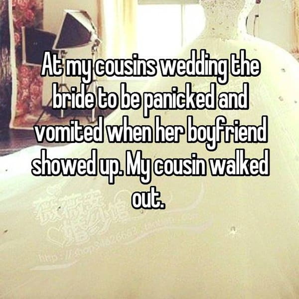 Awkward Wedding Incidents vomited
