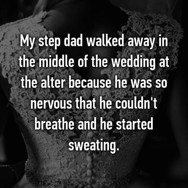 Awkward Wedding Incidents walked away