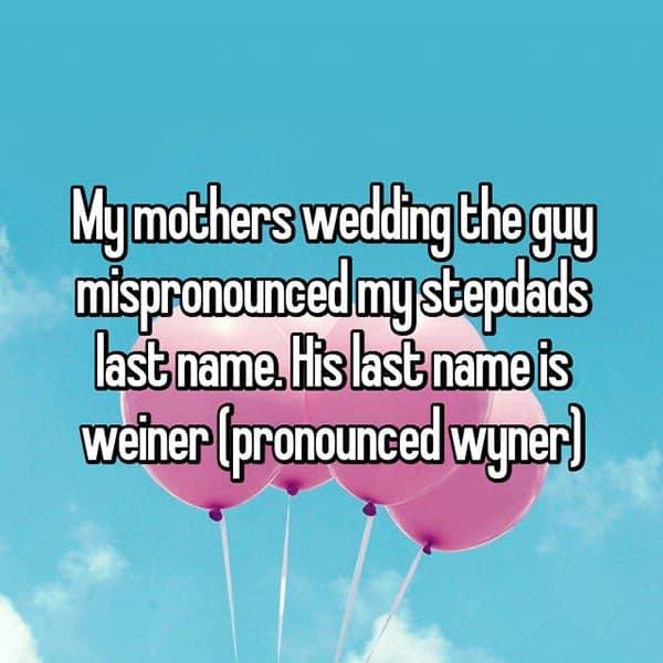 Awkward Wedding Incidents wyner