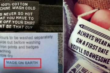 Clothes Tags That Were Funny
