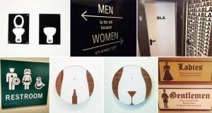 Coolest And Craziest Bathroom Signs