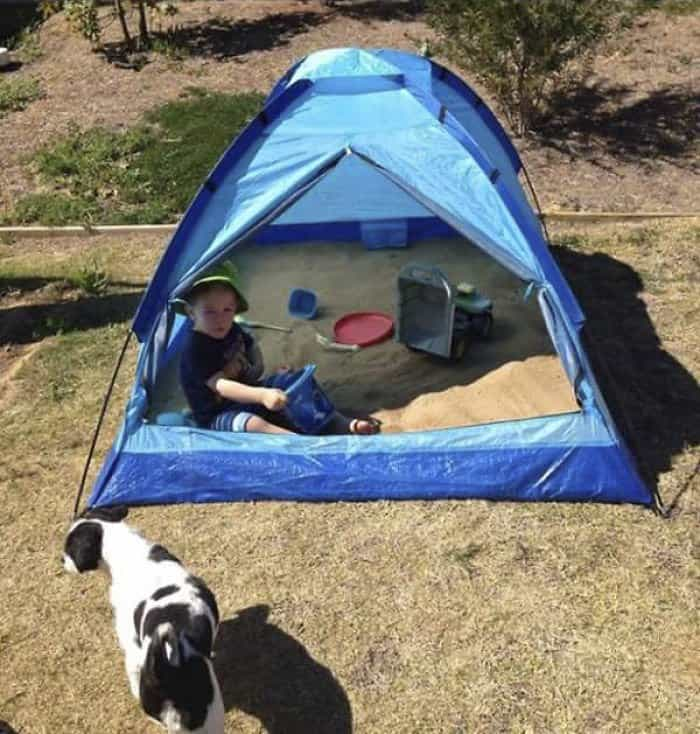 Genius Life Hacks tent sandpit