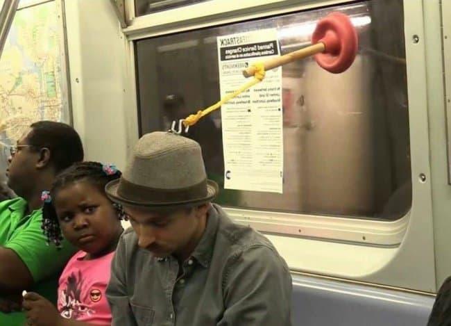 Genius People subway sleeping device