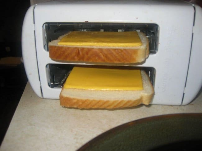 Genius People toaster on its side