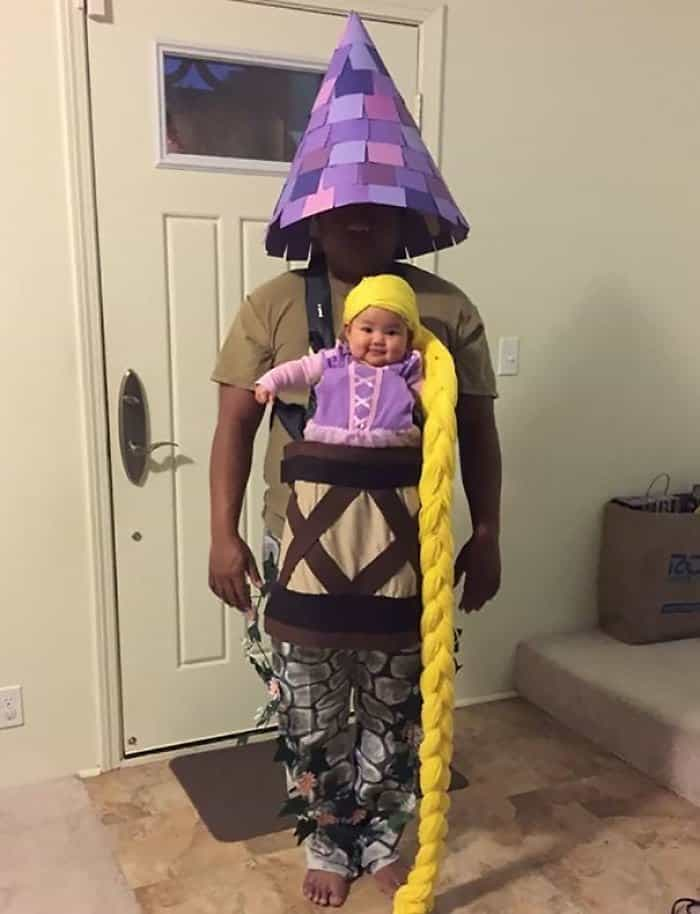 Halloween Costume Ideas For Parents With Baby Carriers baby rapunzel