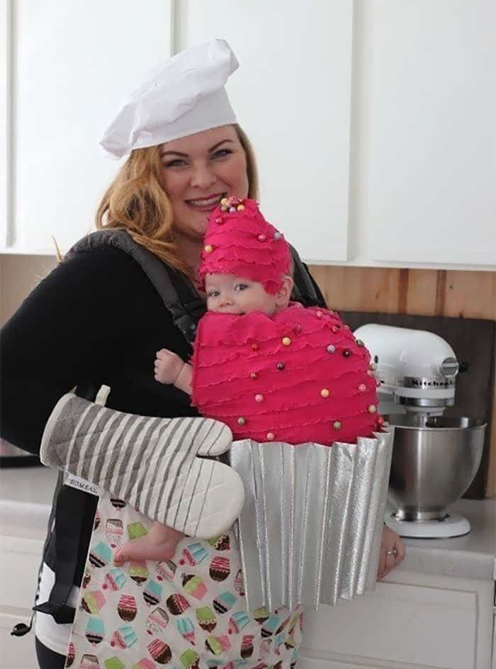 Halloween Costume Ideas For Parents With Baby Carriers baker and cupcake