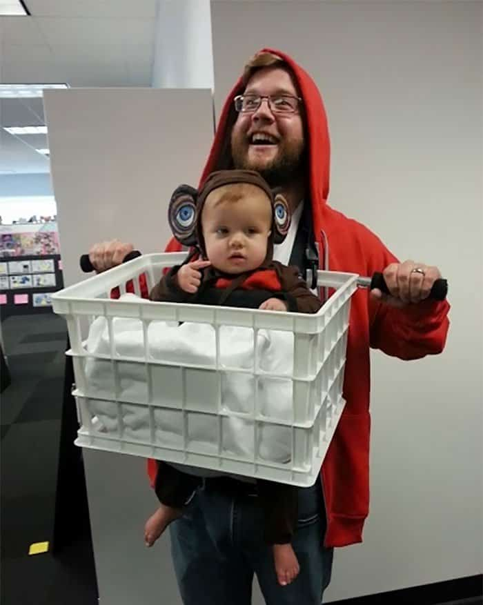 Halloween Costume Ideas For Parents With Baby Carriers et and elliot