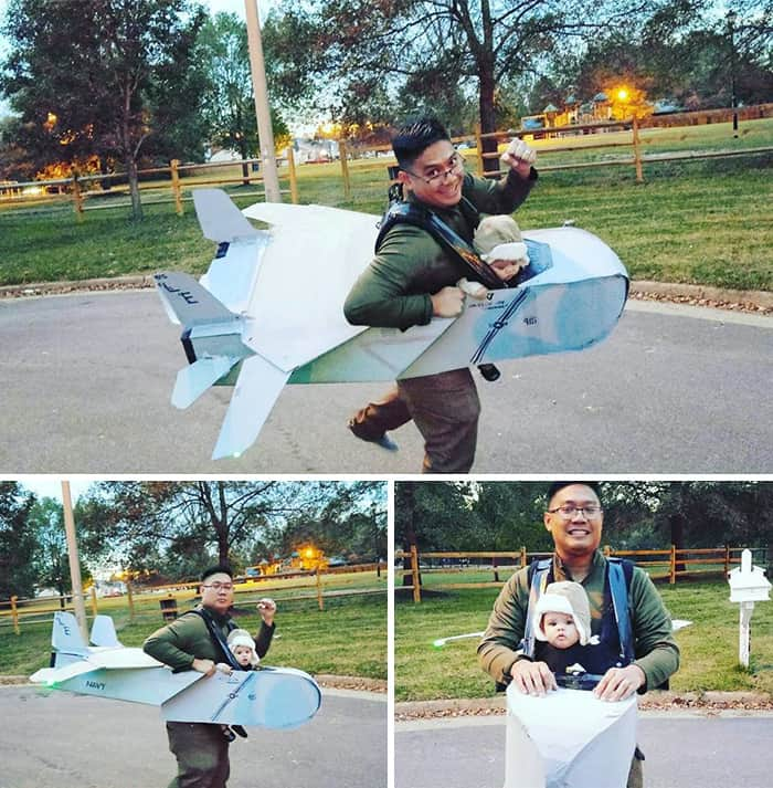 Halloween Costume Ideas For Parents With Baby Carriers plane
